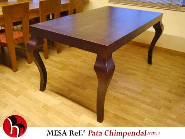 Muebles Peñalver · Mesa Pata Chimpendal foto 1