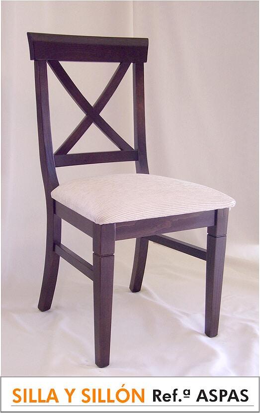 Silla Referencia ASPAS asiento de madera