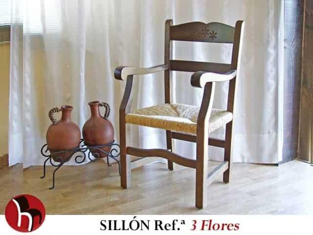 Sillón Referencia 3 FLORES · Muebles Peñalver