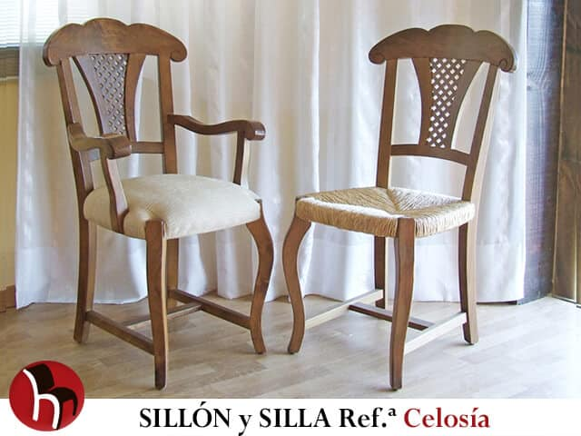 Sillón y Silla Referencia CELOSÍA · Muebles Peñalver