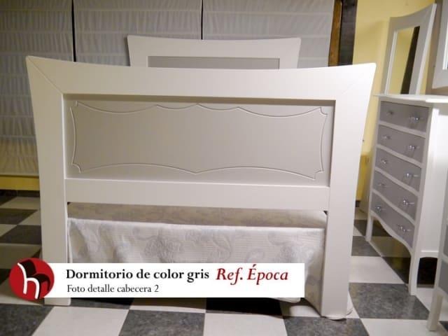 Dormitorio gris Ref. Época · Foto detalle Cabecero · Muebles Peñalver