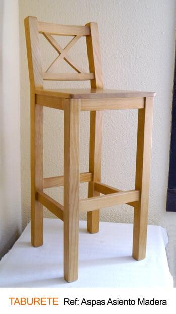 Taburete aspas asiento madera · Muebles Peñalver