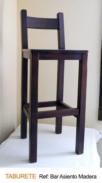Taburete bar asiento madera · Muebles Peñalver